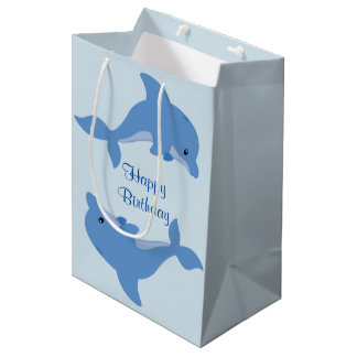 A Cute Happy Dolphin Medium Gift Bag