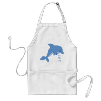 A Cute Happy Dolphin Standard Apron