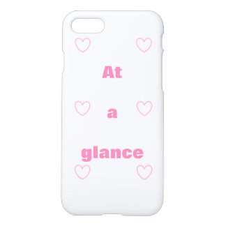 A cute, pretty heart and character  iPhone 8/7Case iPhone 8/7 Case