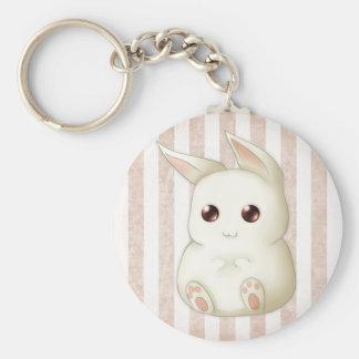 A Cute Puffy Kawaii Bunny Rabbit Key Ring