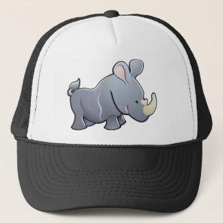 A cute rhino or rhinoceros trucker hat