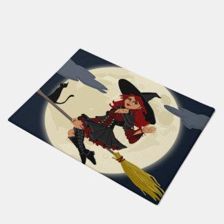 A Cute Witch Doormat