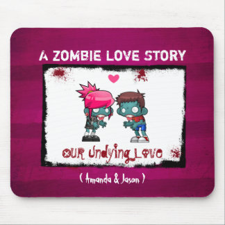 A Cute Zombie Couple : A Zombie Love Story Mouse Pad