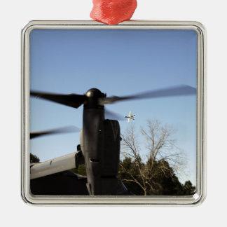 A CV-22 Osprey prepares to take off Silver-Colored Square Decoration