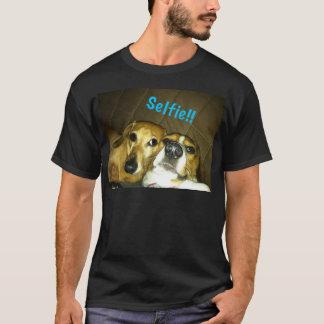 A dachshund and a beagle taking a selfie T-Shirt