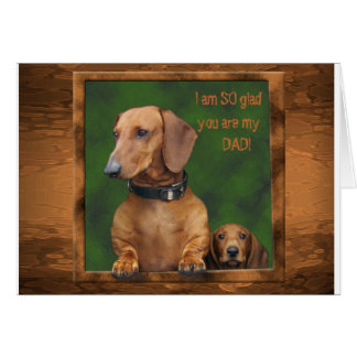 A dachshund Father s Day Cards
