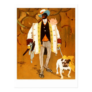 A Dandy and His Dog Postcard