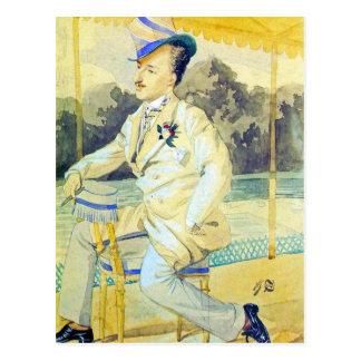 A dandy by James Tissot Postcard