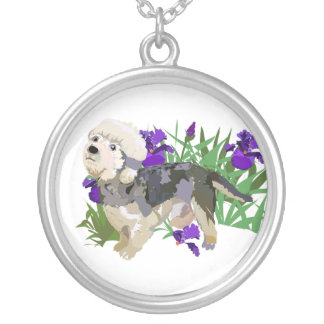 A Dandy in the Iris Silver Plated Necklace