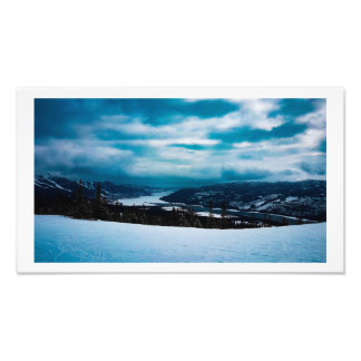 A dark day to the summit photo print
