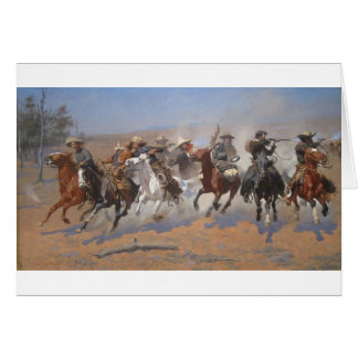 A Dash for the Timber by Frederic Remington Card
