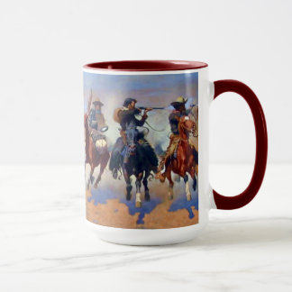 A Dash for the Timber, Frederic Remington Mug