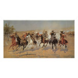 A Dash For Timber by Frederic Remington, Cowboys
