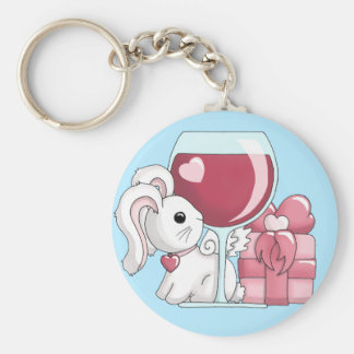 A Date with a Flutterby Bunny Keychain