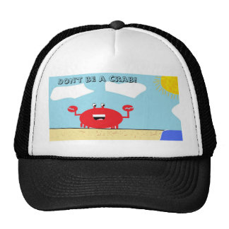 A day at the beach, Don't be a crab! Mesh Hats