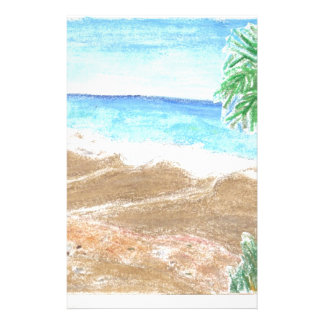 A Day At The Beach Customized Stationery