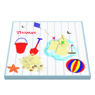 A Day At The Beach Summer Fun Picture Gallery Wrap Canvas