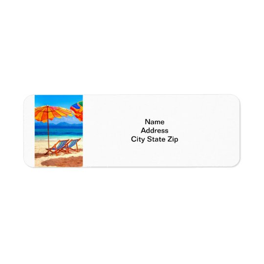 A DAY AT THE SEASHORE ADDRESS LABELS
