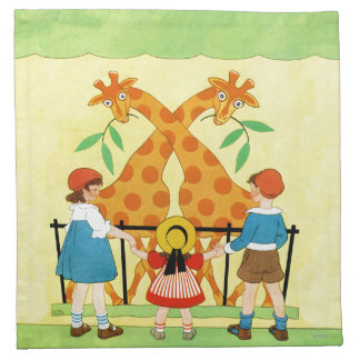 A Day At The Zoo Cloth Napkins