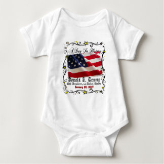 A Day In History Trump Pence Inauguration Baby Bodysuit