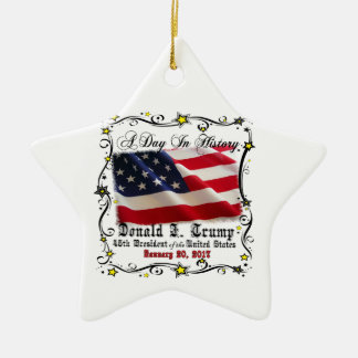 A Day In History Trump Pence Inauguration Ceramic Ornament