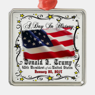 A Day In History Trump Pence Inauguration Metal Ornament