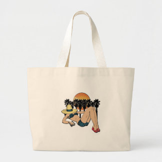 A Day in Paradise Large Tote Bag