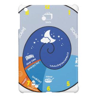 a day in the life of a boyish charm kid clock iPad mini cover