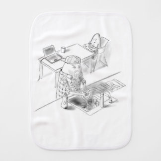 A day with Dad Burp Cloth