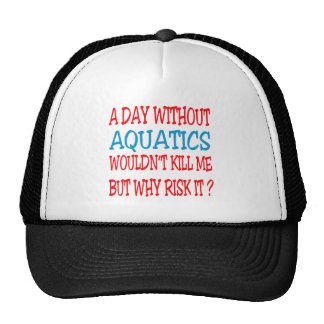 A Day Without Aquatics Wouldn't Kill Me Mesh Hats