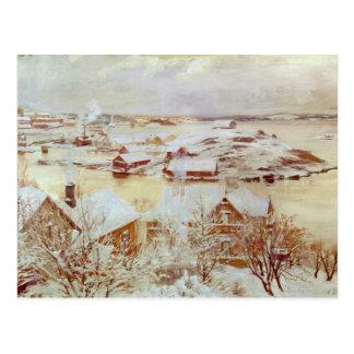 A December Day  c.1893 Postcard
