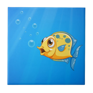 A deep ocean with a yellow fish tile