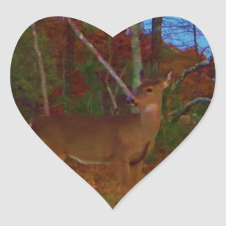 A Deer: Gold Red Green and Blue Stickers