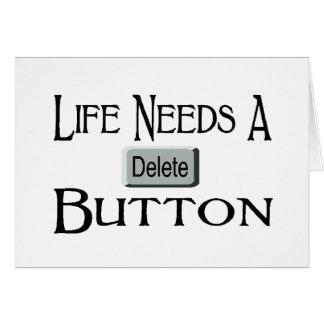 A Delete Button Card