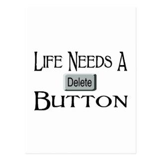 A Delete Button Postcard