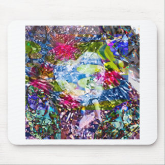A diamond heart shines on the pond mouse pad