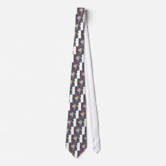 A diamond heart shines on the pond tie