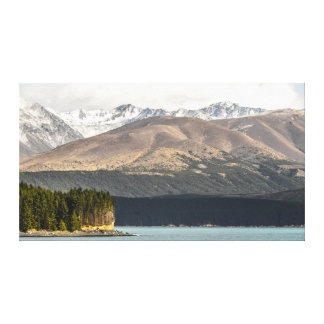 A Different View on Lake Pukaki Canvas Print