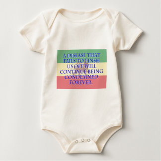 A Disease That Fails To Finish - Amharic Baby Bodysuit