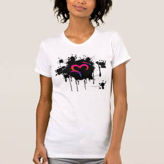 A. Ditched Oz Heart & Halo Splatter T-Shirt
