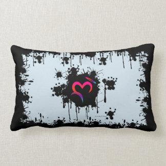 A. Ditched Oz Heart & Halo Splatter Throw Pillow