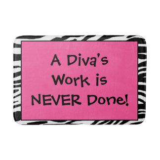"""A Diva's Work is NEVER Done!"" Bath Mats"