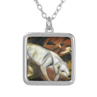 A Dog by Franz Marc Square Pendant Necklace