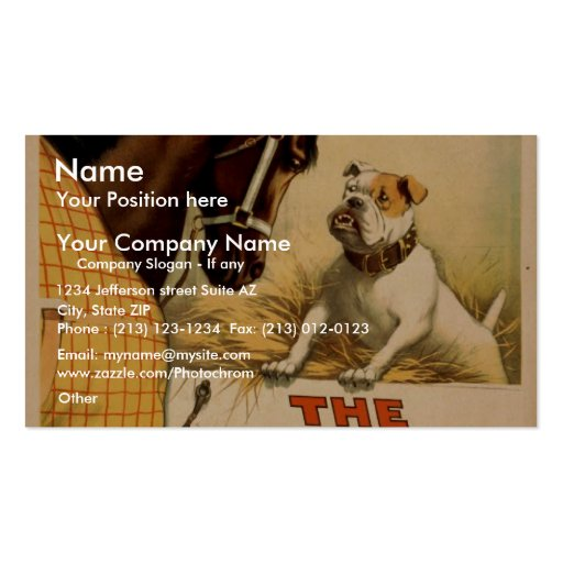 A dog in the Manger, 'Hoyt's' Vintage Theatre Pack Of Standard Business Cards