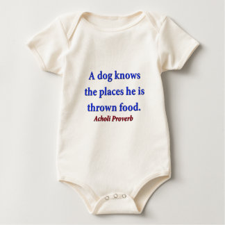 A Dog Knows The Places - Acholi Proverb Baby Bodysuit