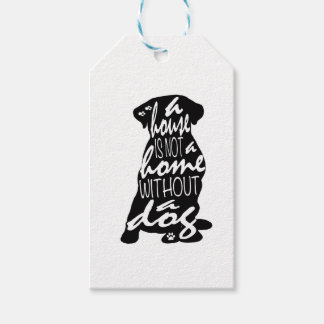 A Dog Makes a House a Home Gift Tags