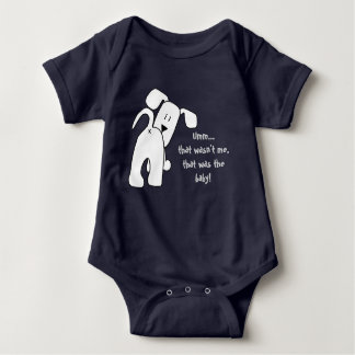 A Dog That Parps Funny Boy or Girl Baby Bodysuit