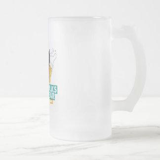 A Dog Walks into a Bar Frosted Mug - Color Logo