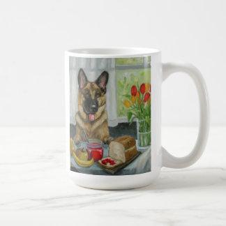 """A Doggie Snack"" beautiful german shepherd Coffee Mug"