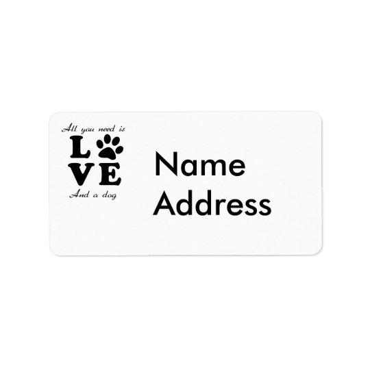 A Dogs Love Address Label